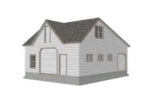 Saltbox Style Garage Plans