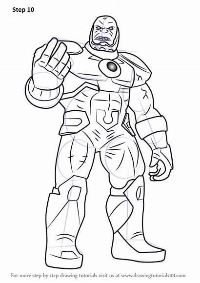 Draw Darkseid Drawing Dc Comics Step Tutorials