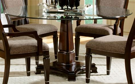 Your Manual to Arts and Crafts round wood dining table set