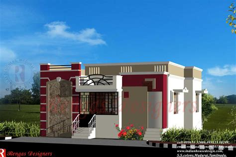 one floor house single floor house front design simple one houses