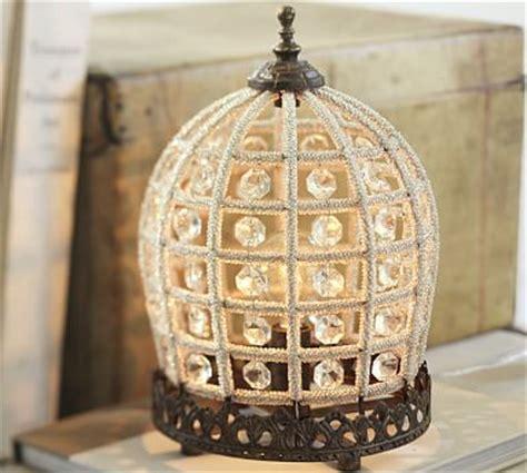 dalila beaded crystal accent lamp pottery barn