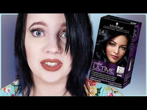 Rich Espresso Hair Dye by Schwartzkopf Sapphire Black Hair Dye Demo Review