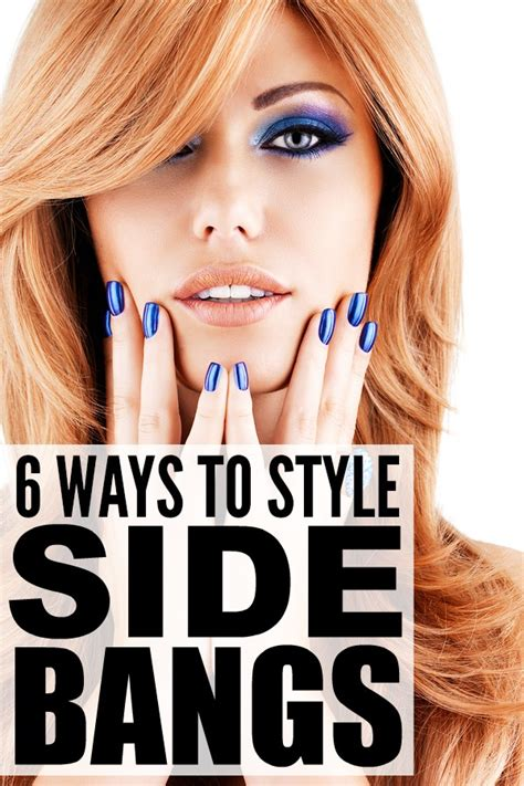 6 ways to style side bangs