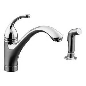 kohler kitchen sink faucet shop kohler forte polished chrome 1 handle low arc kitchen faucet at lowes