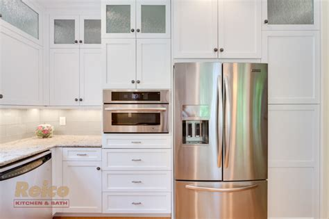 Reico Cabinets Salisbury Md by Transitional White Kitchen Remodel Gaithersburg Md