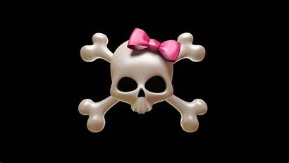 Girly Skull Wallpapers Pink Background Backgrounds Windows