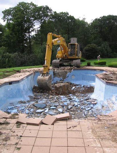 demolition garland richardson excavation swimming pool