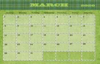 march  calendar   drawn  learn teachers
