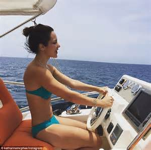 Bikini Boat Pictures by Katharine Mcphee Puts On A Leggy Display While Heading To