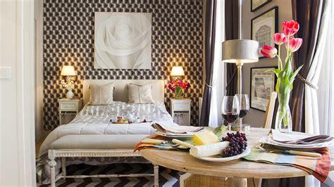 tiny studio apartment  stylish parisian decor