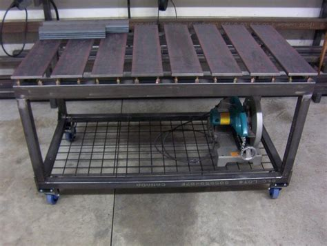 steel welding table plans diy welding table and cart ideas