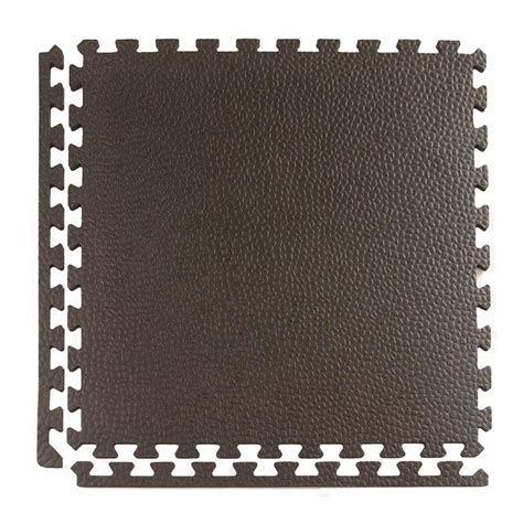 greatmats pebble top lite black 24 in x 24 in x 0 39 in