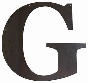 shop houzz precision cut custom metal design rustic With large letter g wall decor