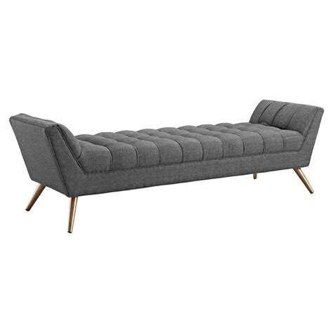 Fabric Bench by Response Fabric Bench Tufted Dcg Stores