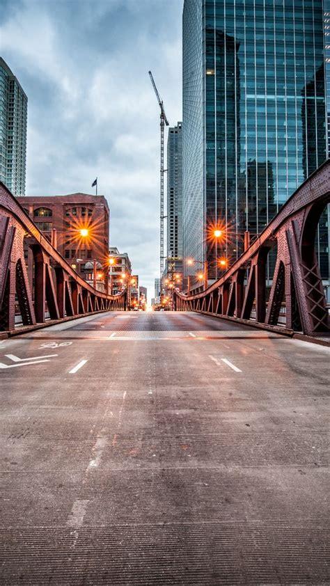 wallpaper clark street bridge chicago usa travel