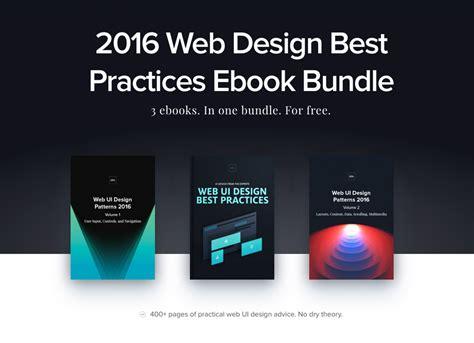 best web design 3 free e books 2016 web design best practices bundle