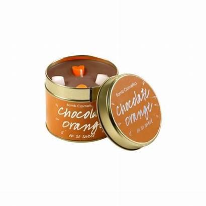 Candle Orange Chocolate Bomb Cosmetics