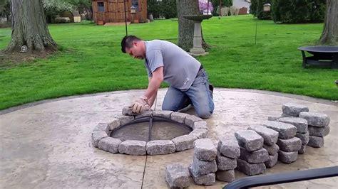build  concrete patio firepit   bucks youtube