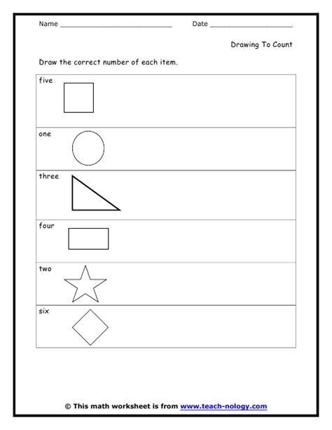 drawing shapes worksheets worksheets for all