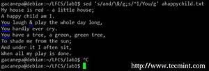 Lfcs  How To Use Gnu  U0026 39 Sed U0026 39  Command To Create  Edit  And