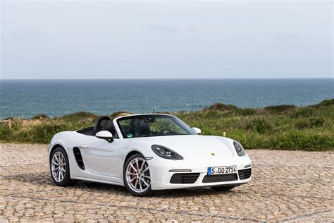 boxster porsche 2017 porsche 718 boxster fully revealed with turbo flat