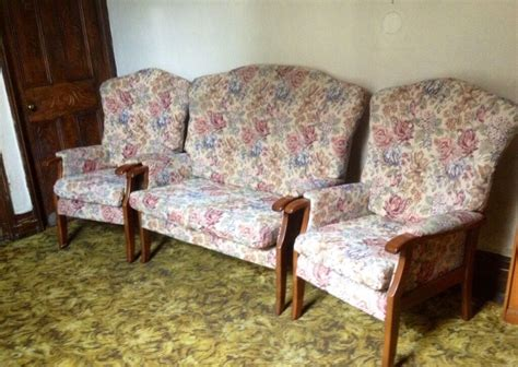 Two Seater Sofa & Two Armchairs (cottage Suite Style)