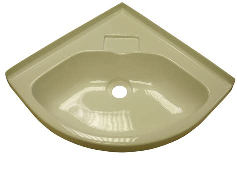 Caravan Basin Corner Bowl Sink, White