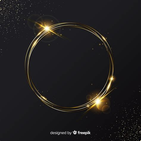 elegant golden sparkling frame background  vector