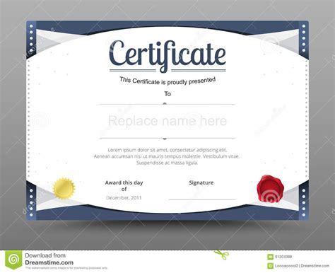 Elegant Certificate Template. Business Certificate Formal