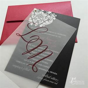 1st impressions invitations vellum wedding invitations With photo wedding invitations with vellum overlay
