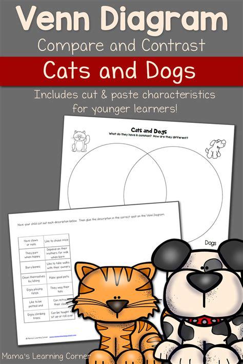 cats  dogs venn diagram worksheet mamas learning corner