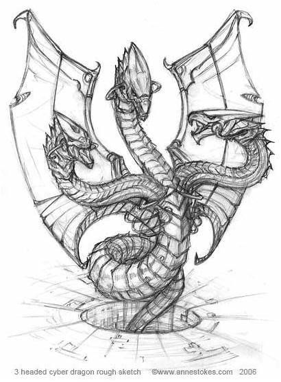 Headed Dragon Cyber Rough Deviantart Ironshod