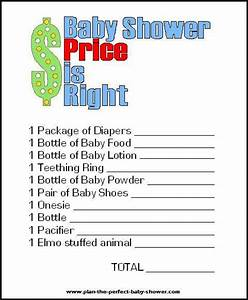 free printable price is right baby shower game template - free printable price is right baby shower game