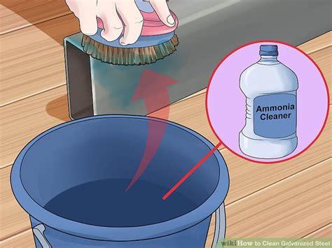 galvanized steel clean wet storage step vinegar wikihow remove stains ways ammonia