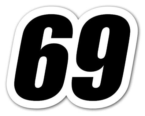 69 Racing Nummer Stickerapp