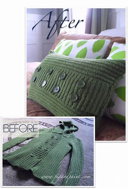 Pillow Sweater Pillows Diy Bow Before Chica