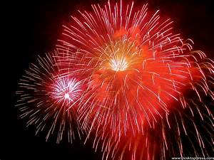 Desktop Wallpapers » Other Backgrounds » Red Fireworks ...