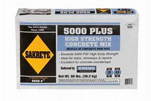 Concrete Psi Chart Stone Cutting Fabricating Bagged Cement Products