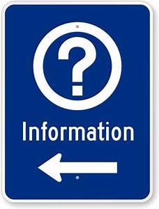 Information Sign, General Information Sign, SKU: K-7016-L  Information