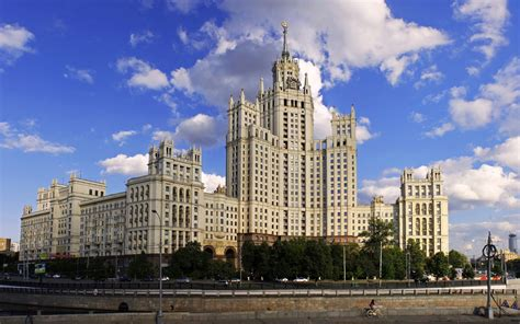 moscow russia beautiful building architecture