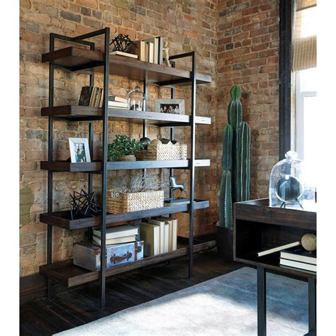 Modern Rusticindustrial Bookcase With 5 Shelves By