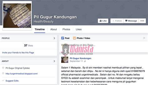 Cytotec 200mg Info Terkini Awas Laman Facebook Jual Pil Gugur