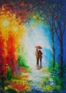 Couple with Umbrella Painting