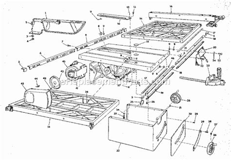 craftsman 10 table saw parts craftsman 113298840 parts list and diagram