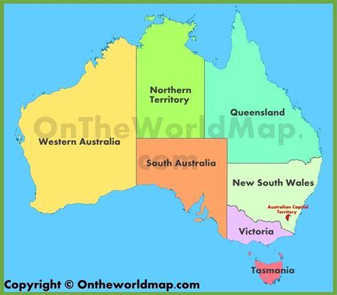 administrative map  australia