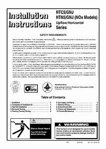 Icp Gnj075n12a1 Furnace Installation Instructions Manual