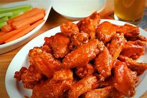Giant Plate Of Delicious Chicken Wings