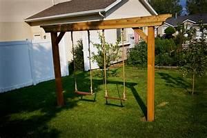 Pergola Swing Set Plan Furnitureplan Pergola Swing Plans Images