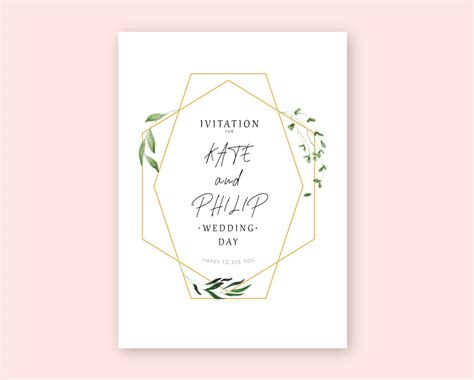 wedding invitation vector mockup templates images