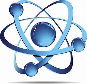 Blue Atom Clipart